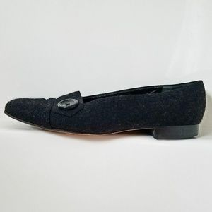 Talbots black felted loafers